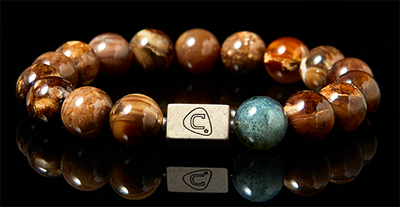 Percussion | Men's Bracelet - The Cadence Company | Sterling Silver, Exotic Leathers & Rare Stones | Rugged Refined | Men's Beaded Bracelets | Men's Leather Bracelets | Handmade Bracelets | Opalite