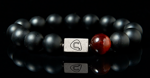 Trill | Men's Bracelet - The Cadence Company | Sterling Silver, Exotic Leathers & Rare Stones | Rugged Refined | Men's Beaded Bracelets | Men's Leather Bracelets | Handmade Bracelets | Onyx