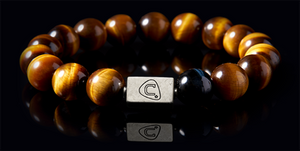 G Clef Black | Men's Bracelet - The Cadence Company | Sterling Silver, Exotic Leathers & Rare Stones | Rugged Refined | Men's Beaded Bracelets | Men's Leather Bracelets | Handmade Bracelets | Tiger Eye
