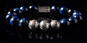 Tacenda | Men's Bracelet - The Cadence Company | Sterling Silver, Exotic Leathers & Rare Stones | Rugged Refined | Men's Beaded Bracelets | Men's Leather Bracelets | Handmade Bracelets