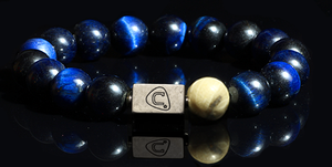 Sands | Men's Bracelet - The Cadence Company | Sterling Silver, Exotic Leathers & Rare Stones | Rugged Refined | Men's Beaded Bracelets | Men's Leather Bracelets | Handmade Bracelets | Blue Tiger Eye