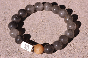 Cadenza | Men's Bracelet - The Cadence Company | Sterling Silver, Exotic Leathers & Rare Stones | Rugged Refined | Men's Beaded Bracelets | Men's Leather Bracelets | Handmade Bracelets | smoke quartz | honey onyx