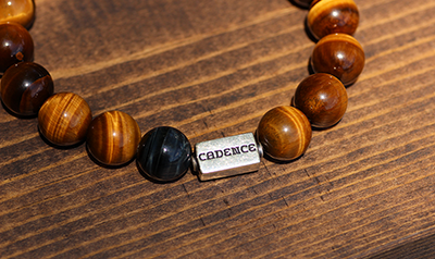The Cadence Company | Handmade Men's Bracelet | Leather Bracelet | Stone Bracelet | Sterling Silver | Men's Beaded Bracelet | Exotic Jewelry | Men's Luxury Jewelry | Premium Jewelry | Men's Fashion | Men's Accessories