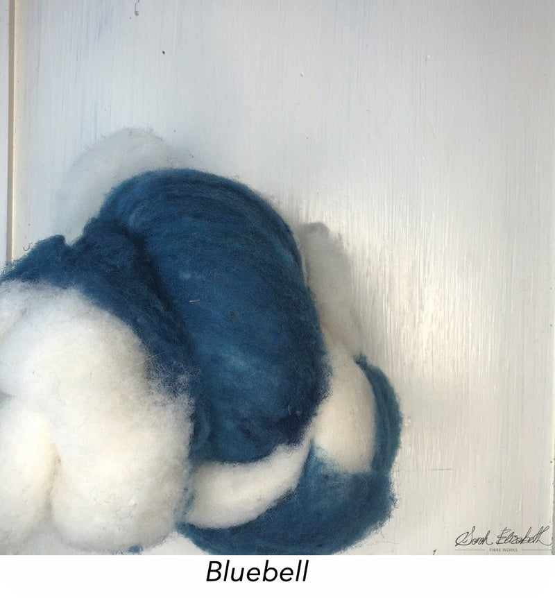 Canadian Merino Batts - Bluebell