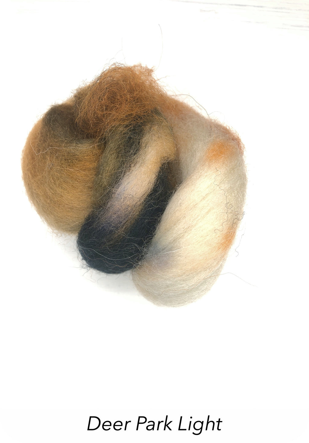 Hand Painted 10g Fibre Knot - Deer Park Light