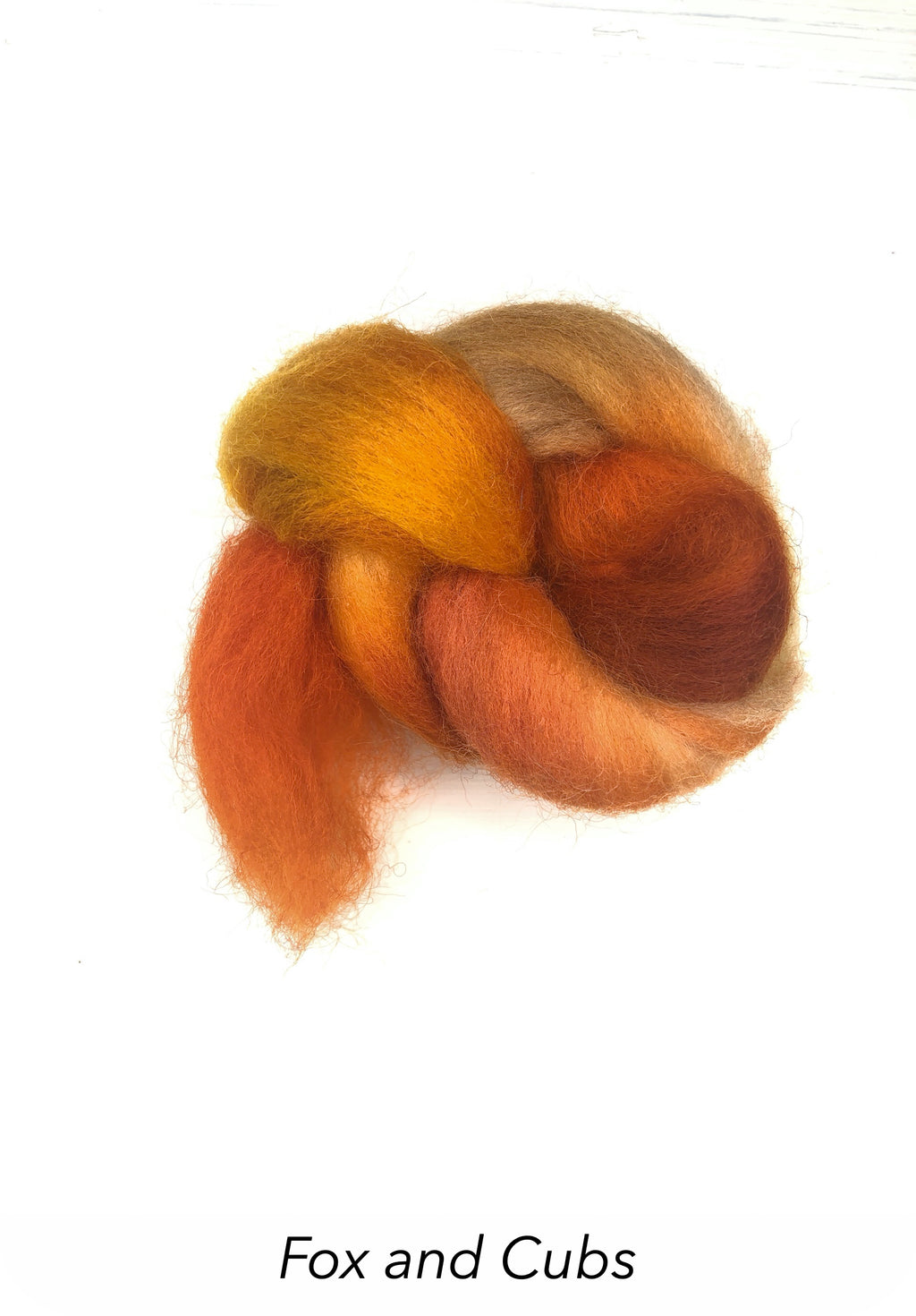 Hand Painted 10g Fibre Knot - Fox and Cubs