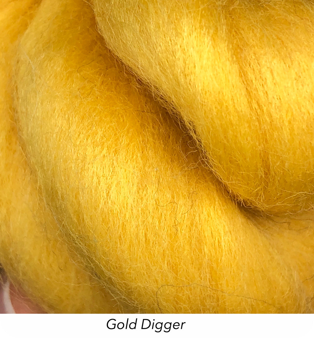 Solid Colour 10g Fibre Knot - Gold Digger