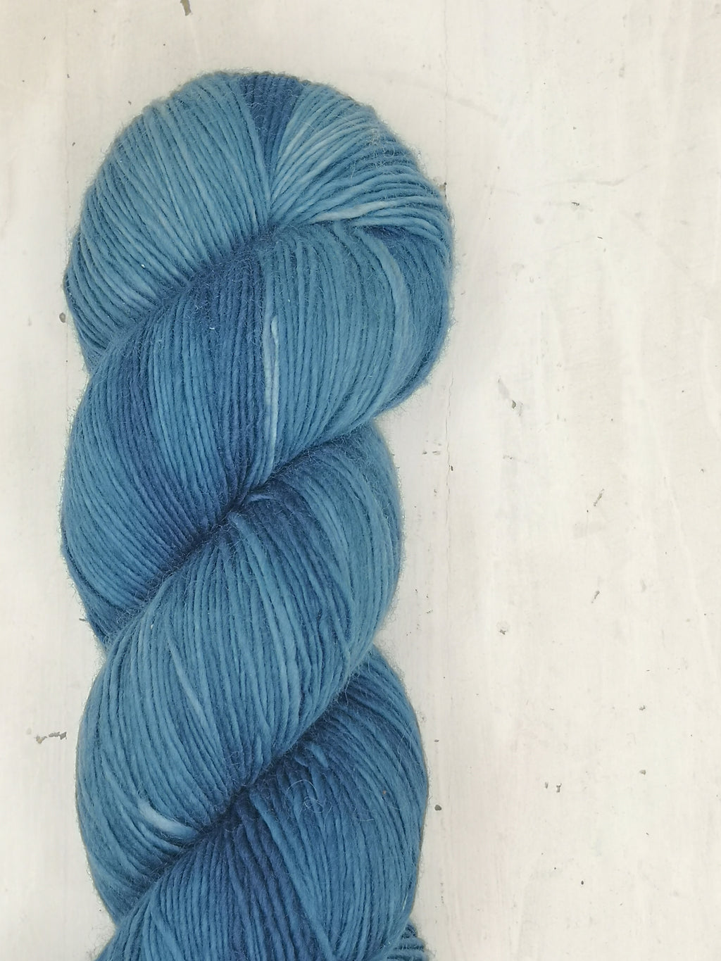 Ecowash 1 ply Fingering, Natural Dyed, Soft Solid - Deep Ocean Indigo