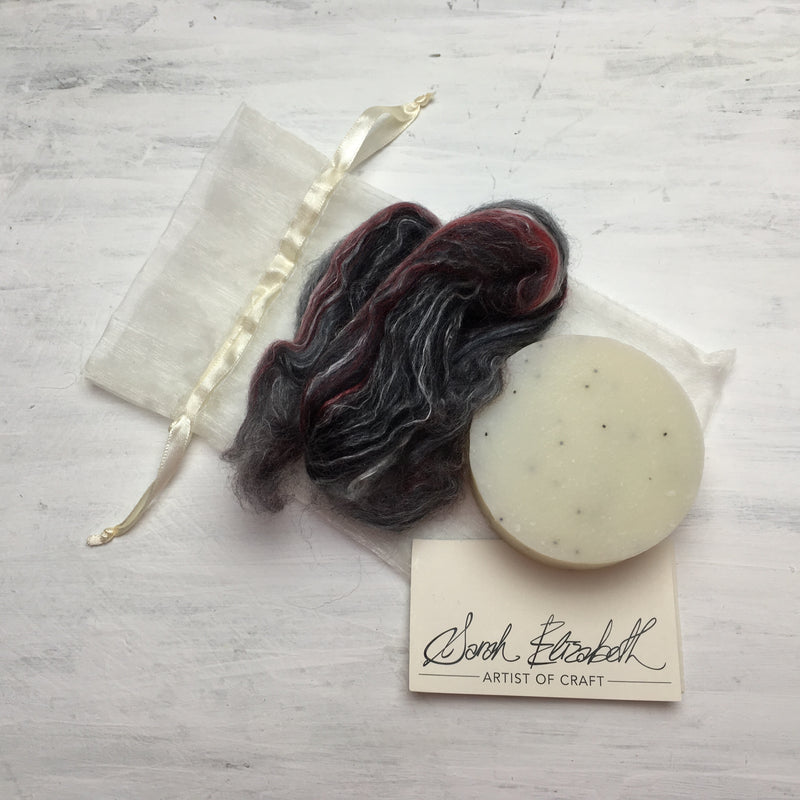 Laughin' Licorice ~ Felted Soap Kit ~ Sarah Elizabeth Fibre Works