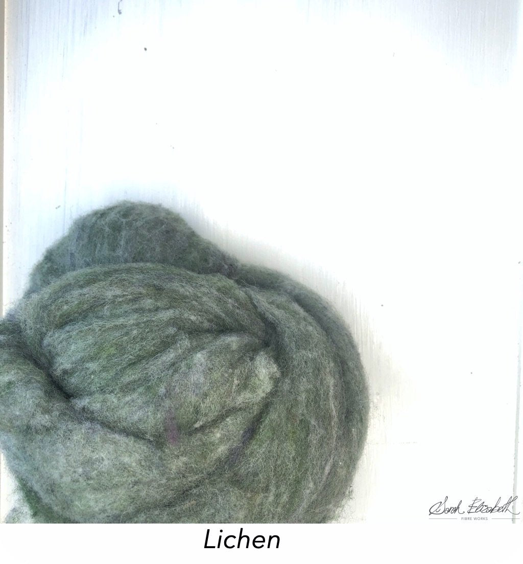 Canadian Merino Batts - Lichen
