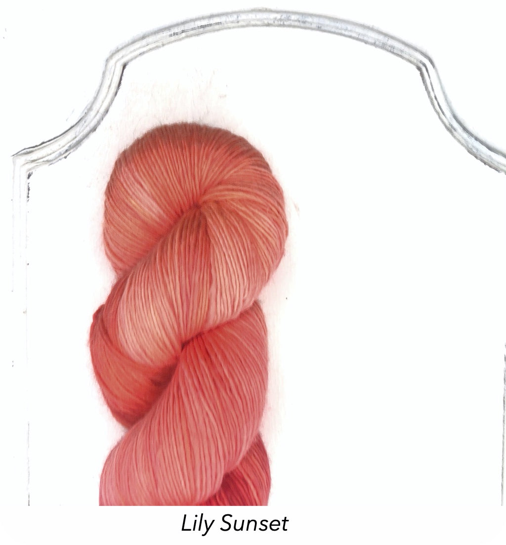 Ecowash 1 ply Fingering, Modern Dyed, Soft Solids - Lily Sunset