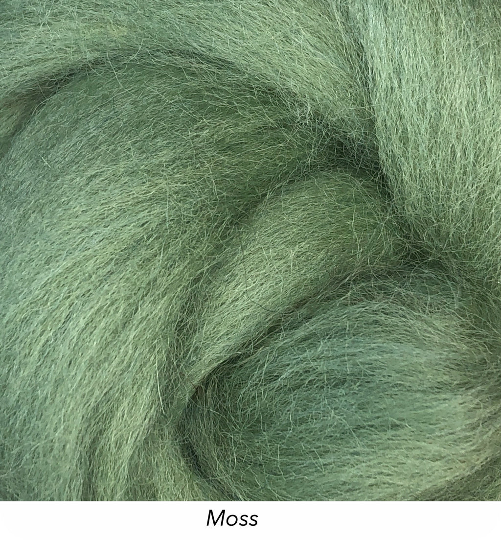 Solid Colour 10g Fibre Knot - Moss