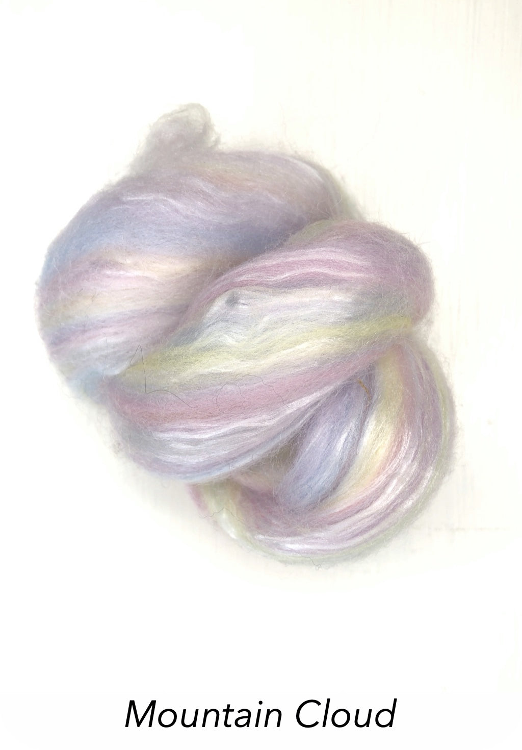 Ashford Silk/Merino Roving - Mountain Cloud