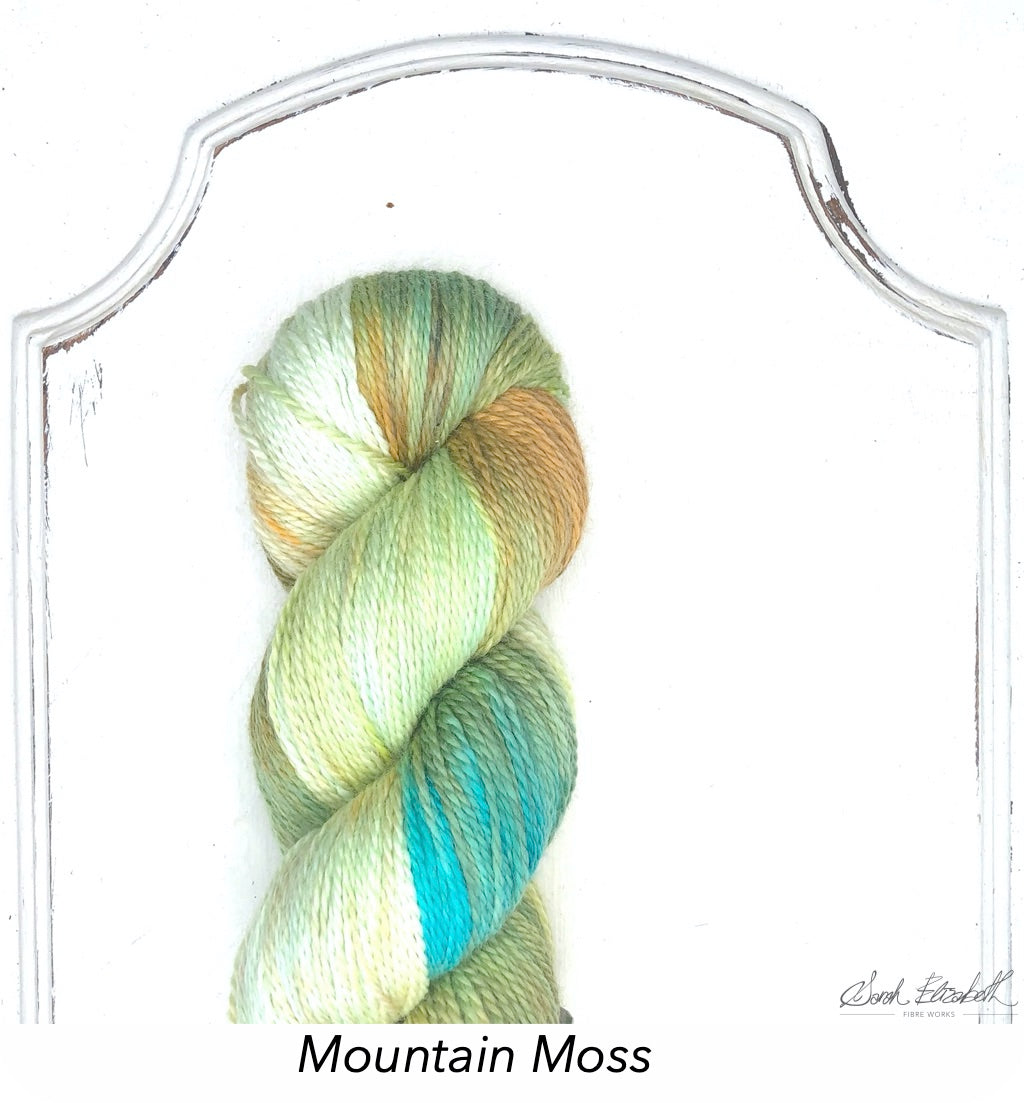 Ecowash 2 ply Fingering, Modern Dyed, Variegated - Mountain Moss