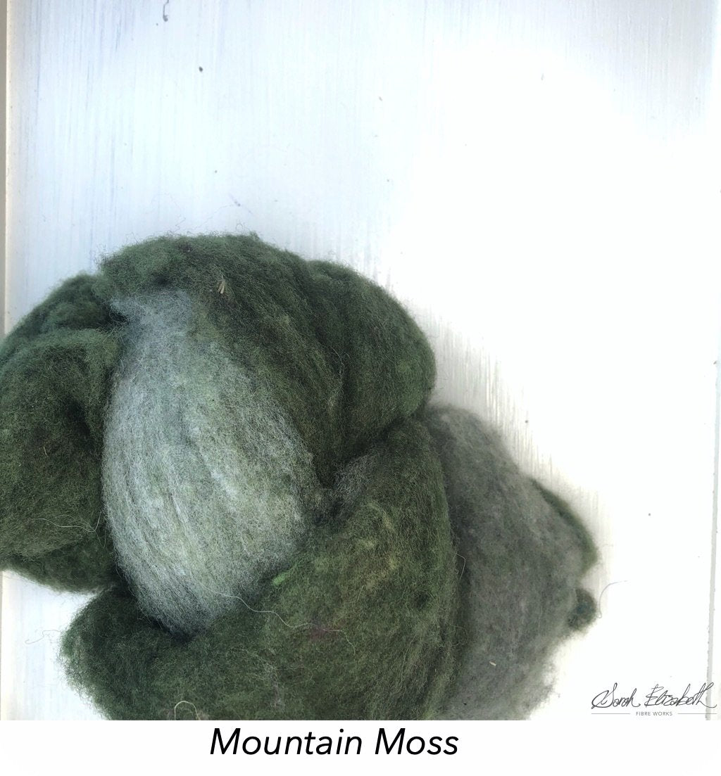 Canadian Merino Batts - Mountain Moss