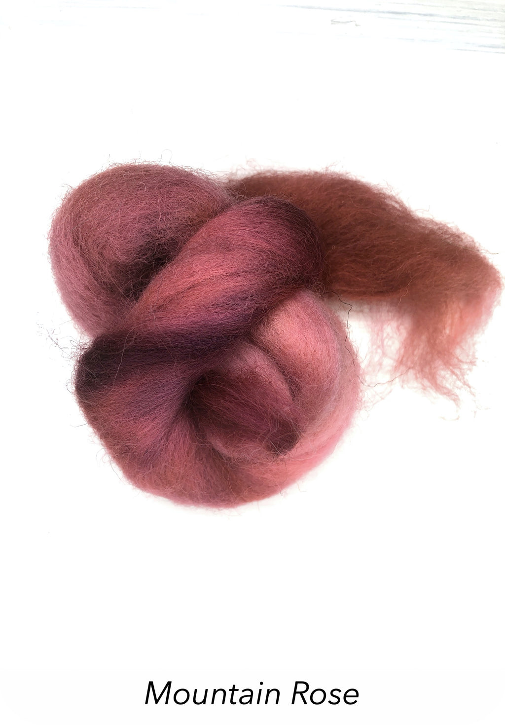 Hand Painted 10g Fibre Knot - Mountain Rose