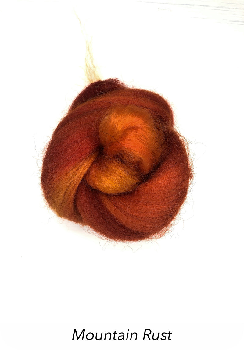 Hand Painted 10g Fibre Knot - Mountain Rust