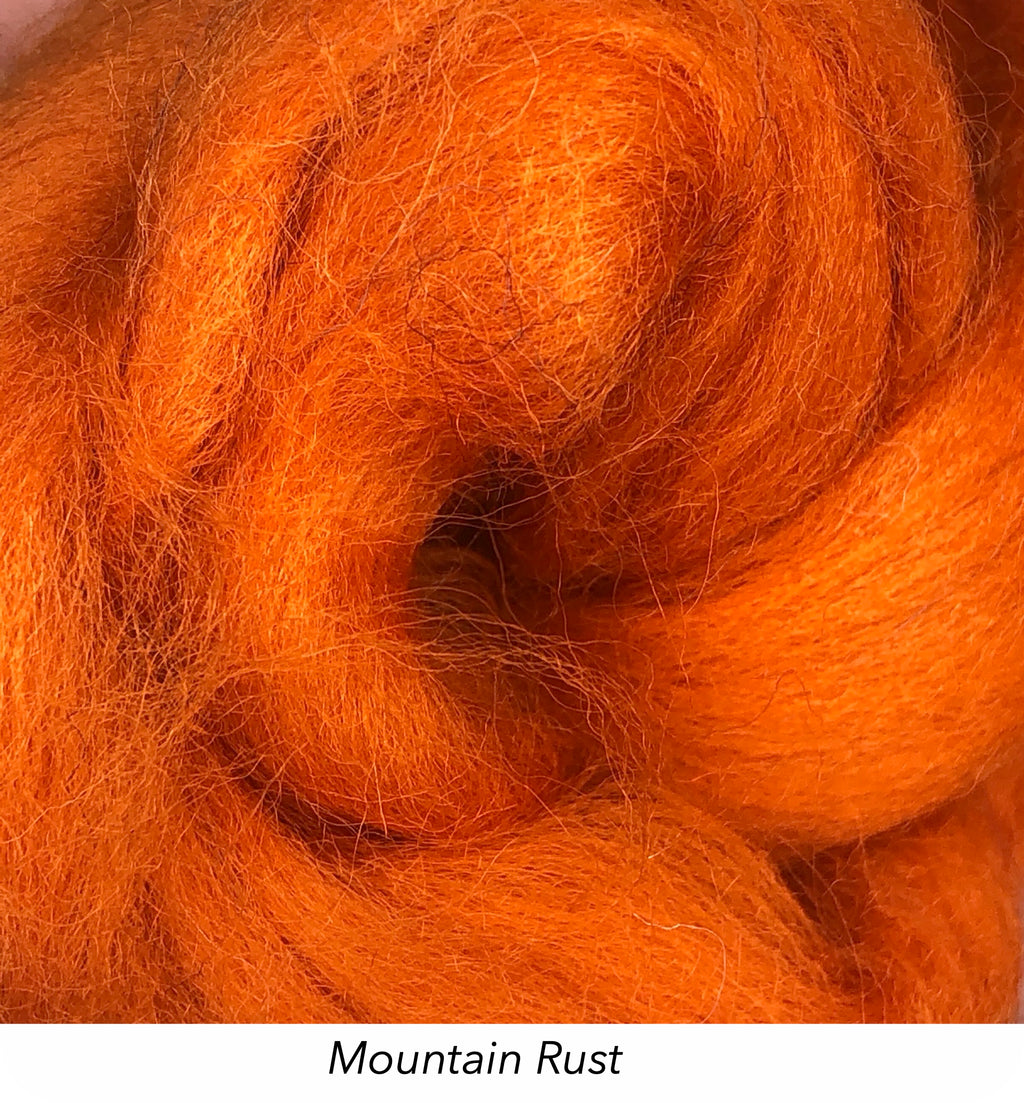 Solid Colour 10g Fibre Knot - Mountain Rust