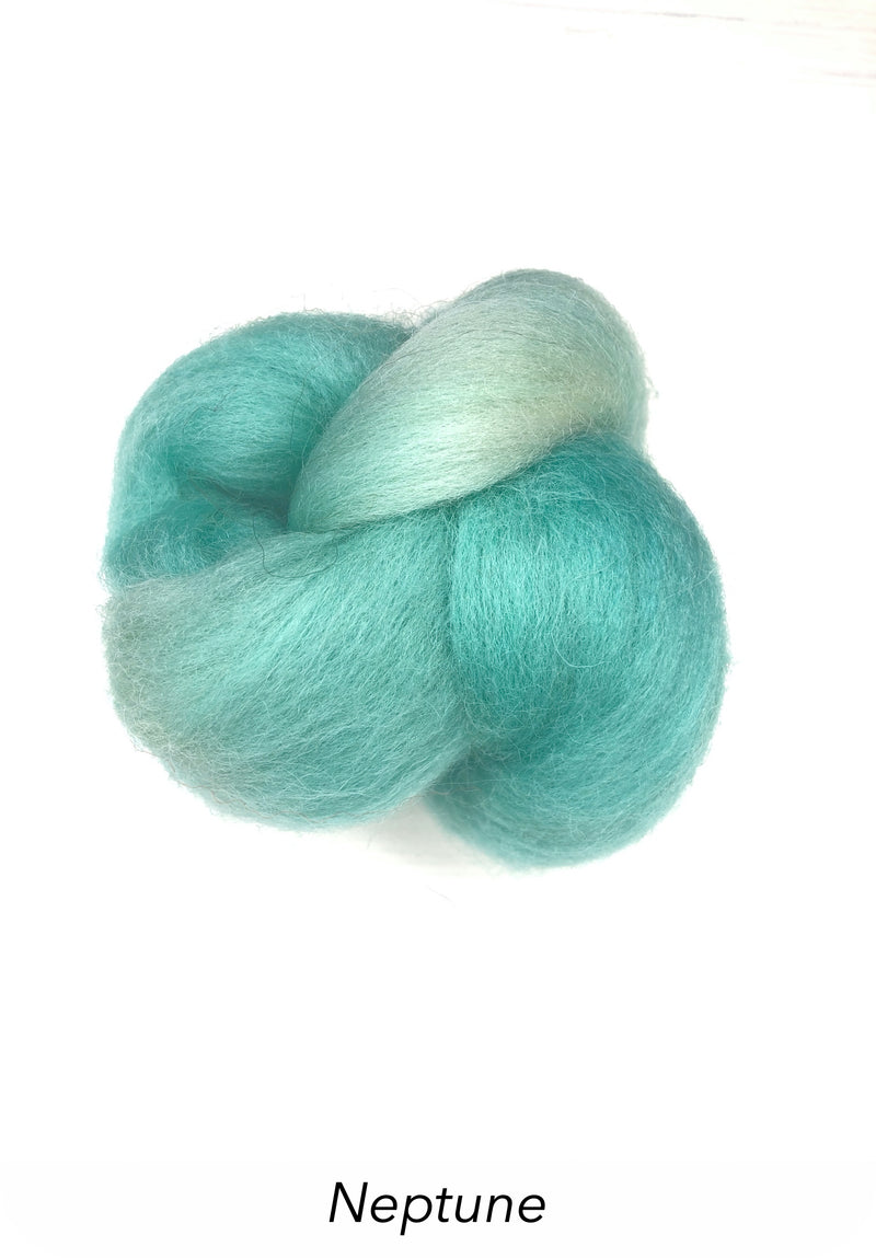Hand Painted 10g Fibre Knot - Neptune