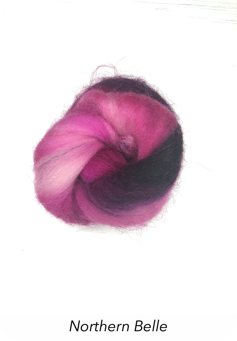 Hand Painted 10g Fibre Knot - Northern Belle