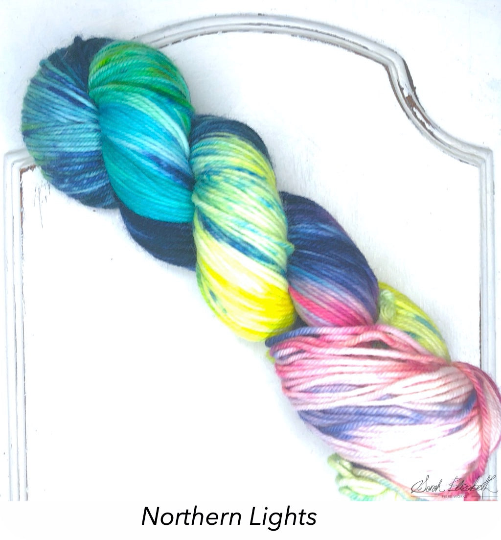 Ecowash Worsted, Modern Dyed, Variegated - Northern Lights