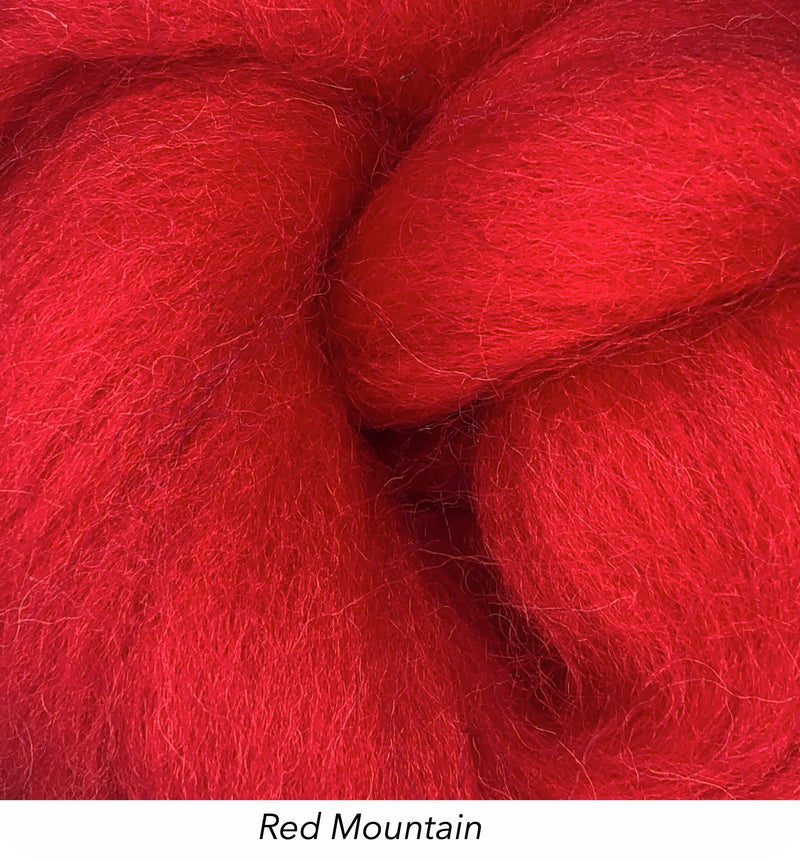Solid Colour 10g Fibre Knot - Red Mountain