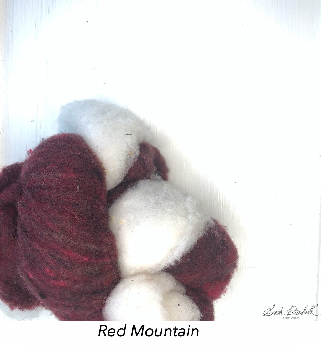 Canadian Merino Batts - Red Mountain