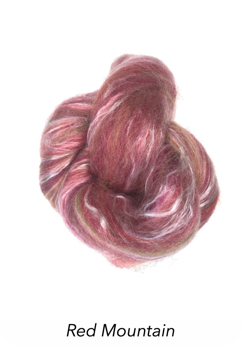 Ashford Silk/Merino Roving - Red Mountain