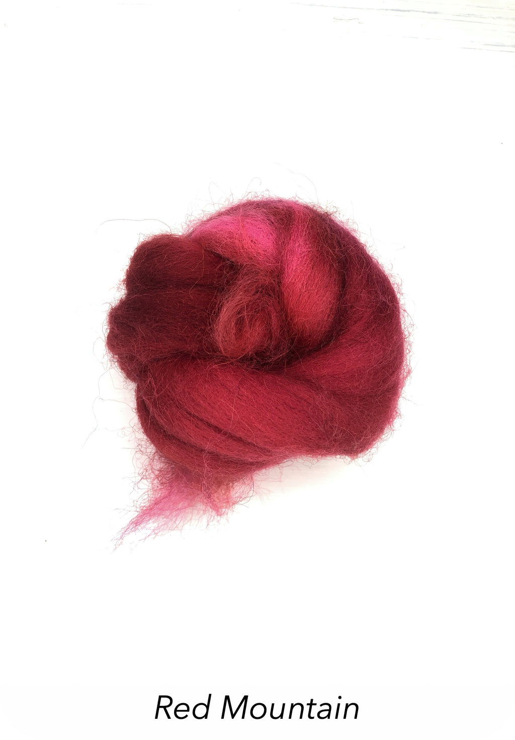 Hand Painted 10g Fibre Knot - Red Mountain