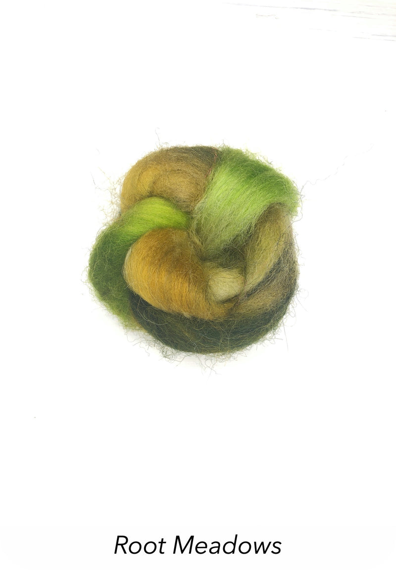 Hand Painted 10g Fibre Knot - Root Meadows