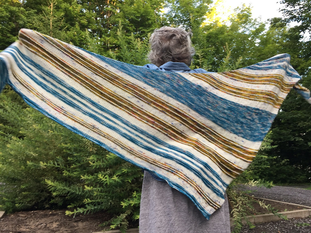 Rossland in the Springtime Shawl - Knitting Pattern