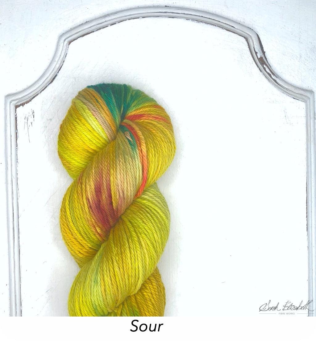 Ecowash Worsted, Modern Dyed, Variegated - Sour