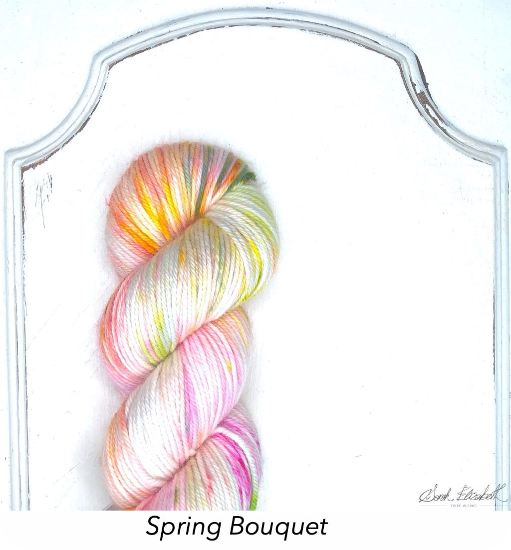 Ecowash Worsted, Modern Dyed, Variegated - Spring Bouquet