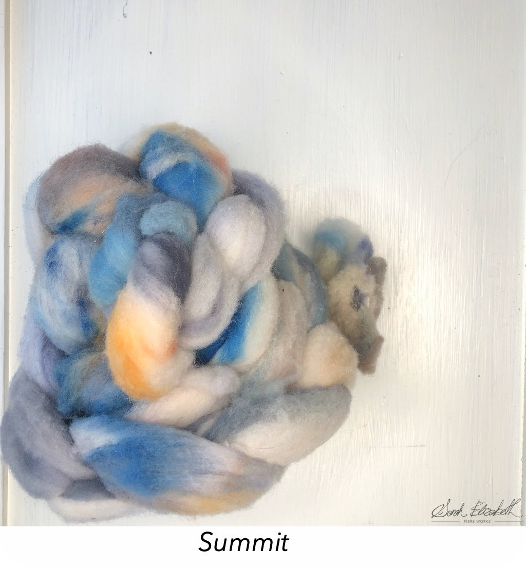 Hand Painted Canadian Merino Roving - Summit