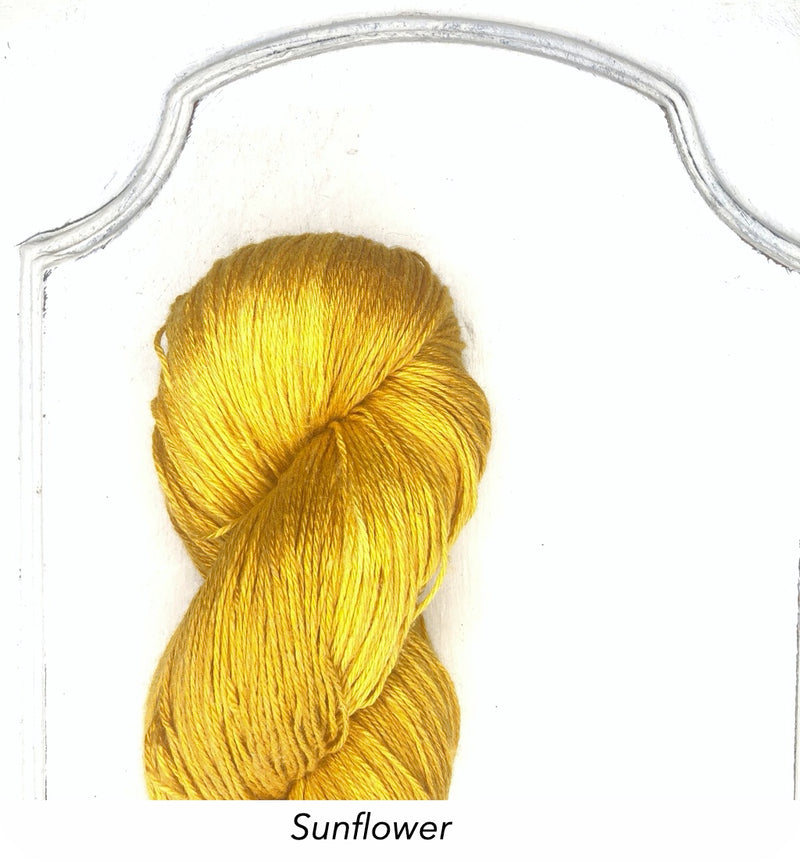 Silk Linen 3 Ply Fingering, Natural Dyed, Soft Solids - Sunflower