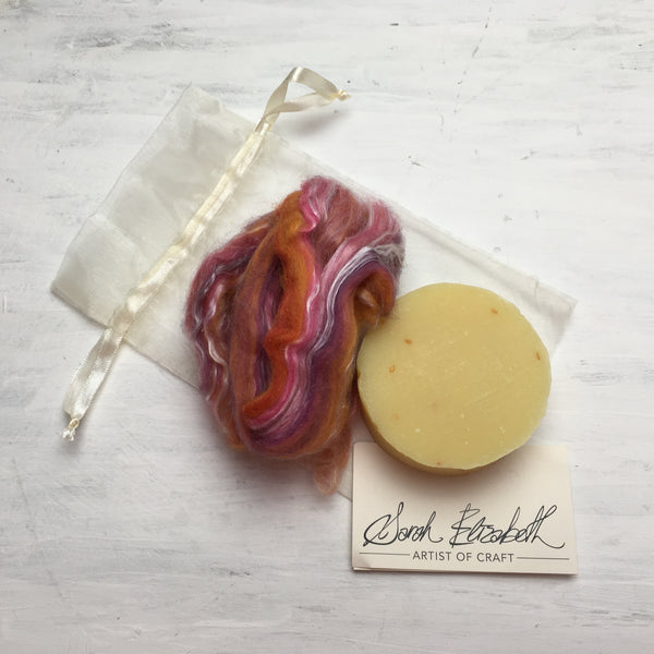 Tangy Thai ~ Felted Soap Kit ~ Sarah Elizabeth Fibre Works