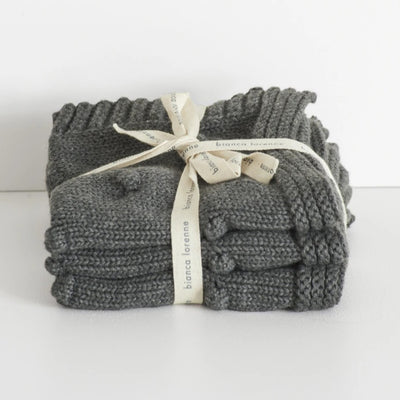 Bianca Lorenne Charcoal Fronzolo Washcloth Set