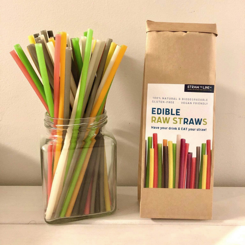 Straw the Line Edible Raw Straws