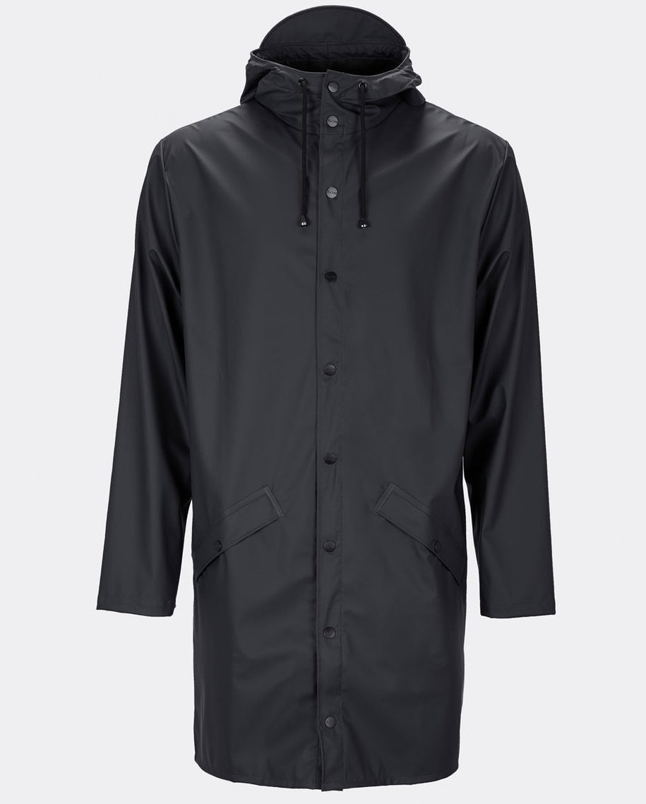 Rains Black Long Jacket