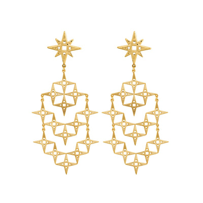 Lindi Kingi Design Gold Stardust Earrings
