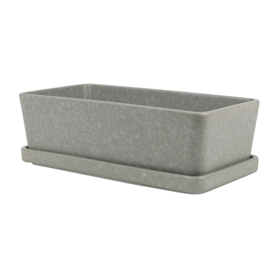 Grey Rectangle Serve & Store