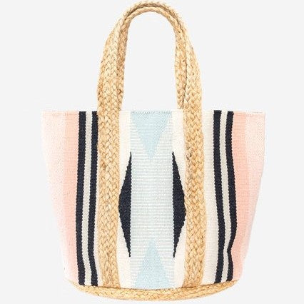 Antler Blush & Blue Woven Bag