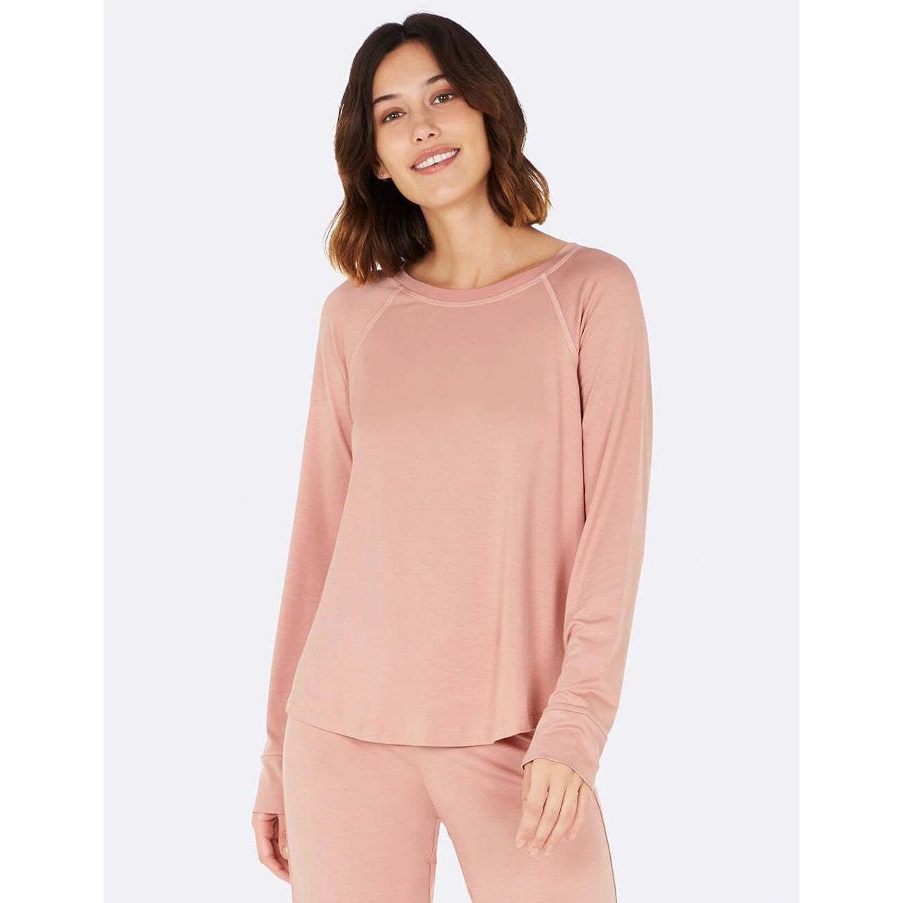 Boody Blush Goodnight Raglan Sleep Top