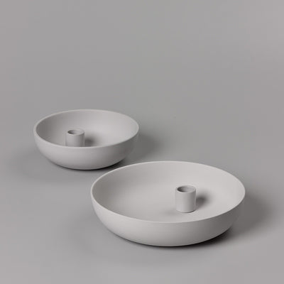 Orbital Grey Ceramic Candle Holder