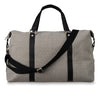 Citta Light Grey Canvas Weekender Bag