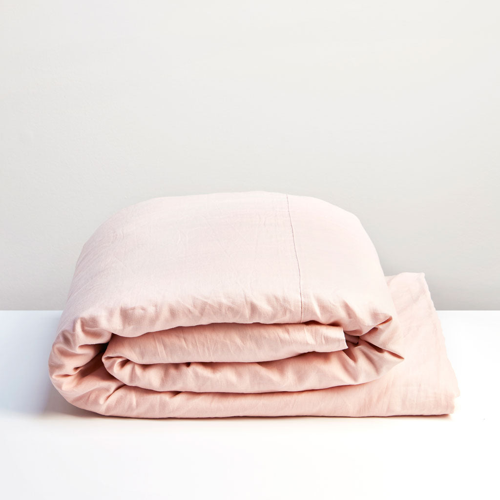Thread Design Blush Linen Duvet Cover