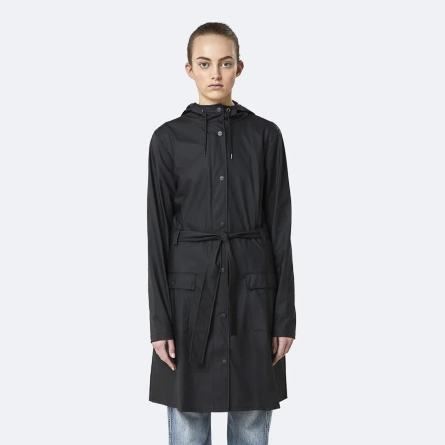 Rains Black Curve Jacket