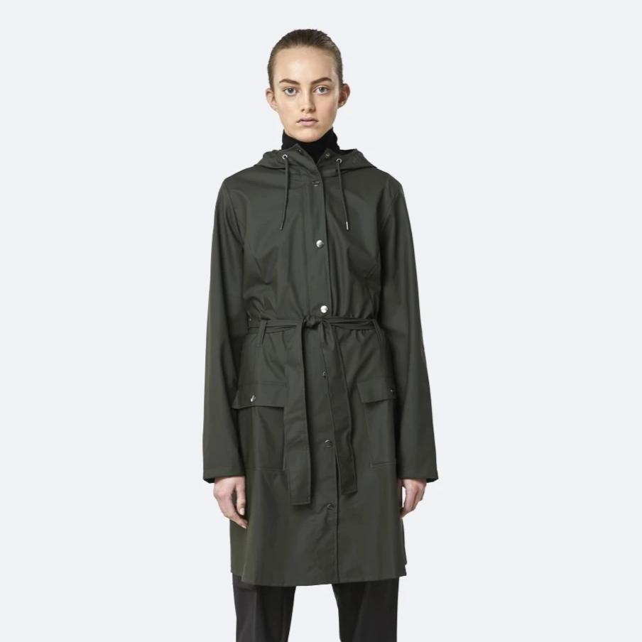 Rains Green Curve Jacket