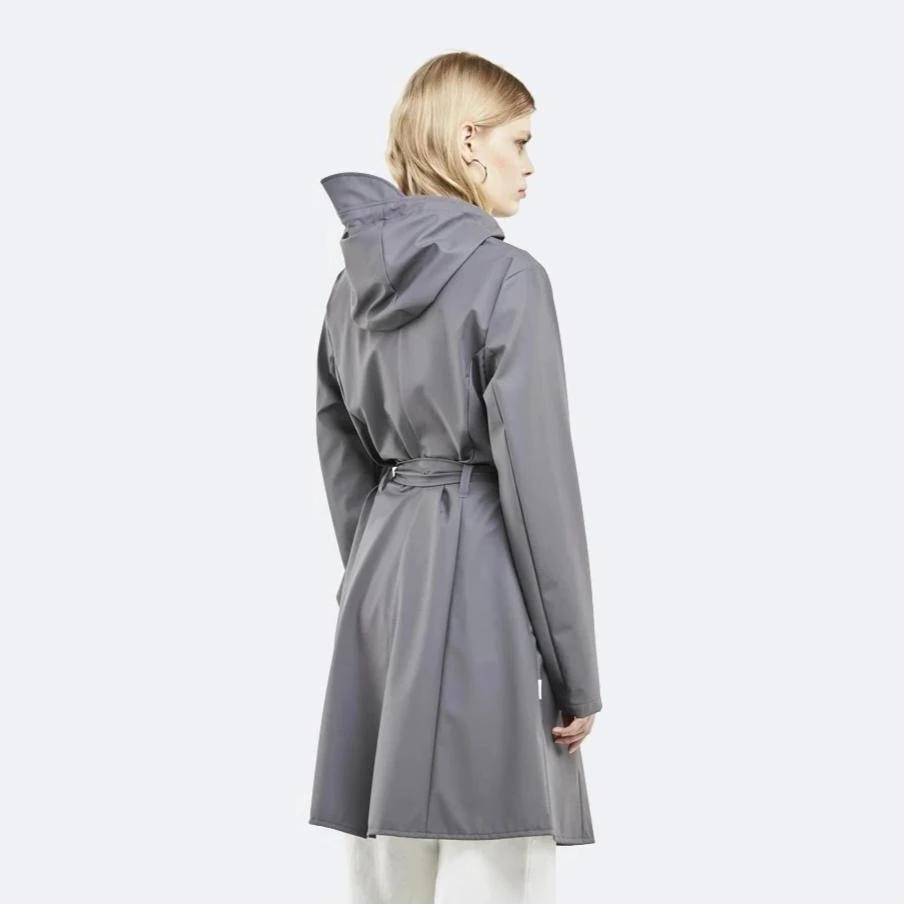 Rains Charcoal Curve Jacket