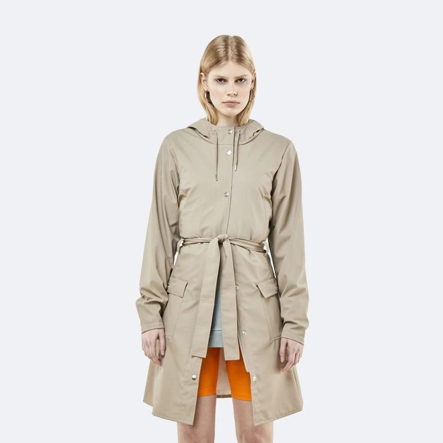 Rains Beige Curve Jacket